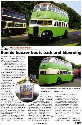 Article in Buses Magazine